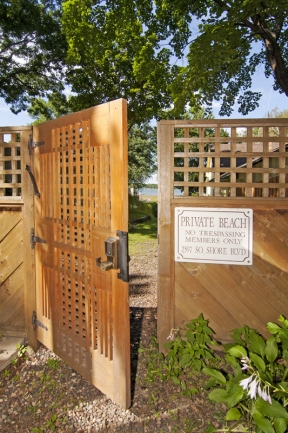 2608 S Shore Blvd, White Bear Lake MN | MLS # 4158856 | Lake access gate